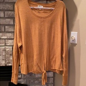 Style & Co tie front sweater XL